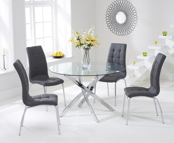 Denver Glass Dining Table Great Furniture Trading Company