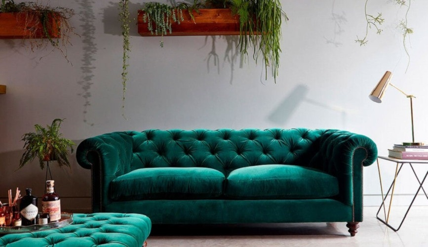 Stirling green sofa from Darlings of Chelsea