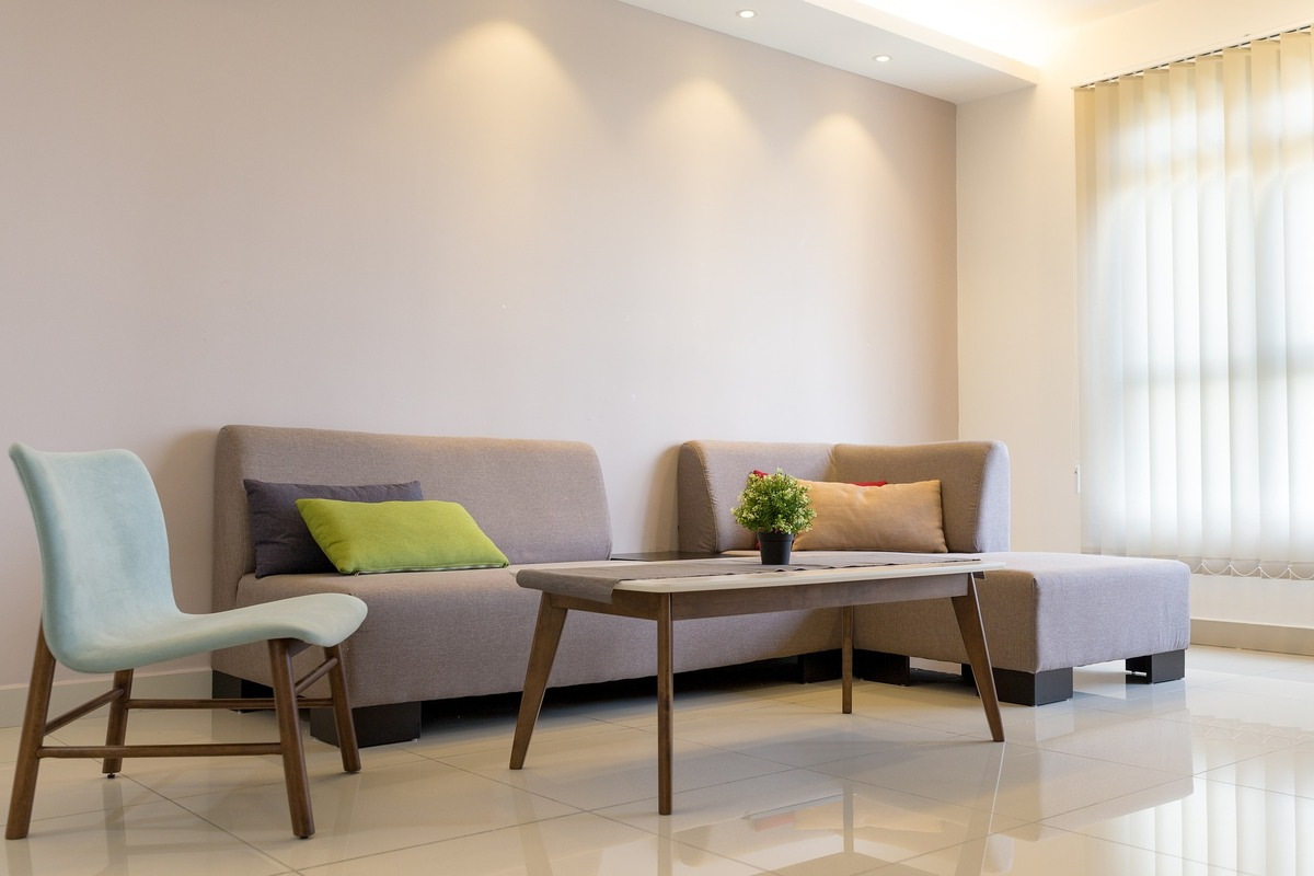 Minimalist Living Room with Sofa and Chair